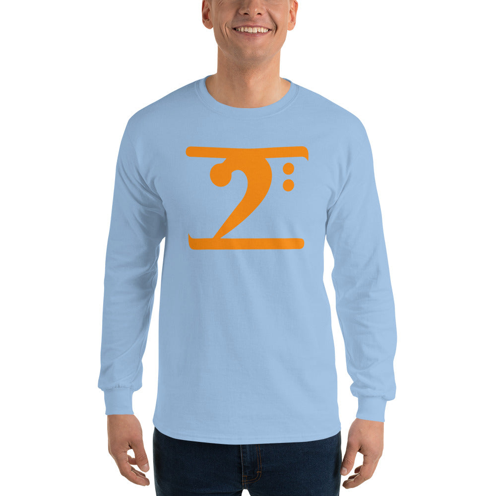 ORANGE LOGO Long Sleeve T-Shirt - Lathon Bass Wear