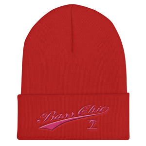 Bass Chic with tail pink Cuffed Beanie - Lathon Bass Wear