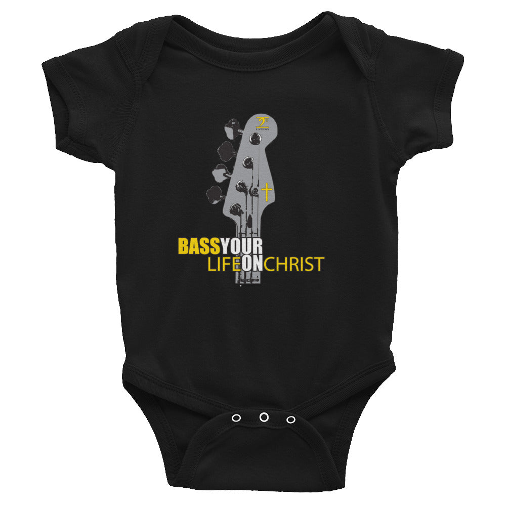 BASS YOUR LIFE ON CHRIST Infant Bodysuit - Lathon Bass Wear