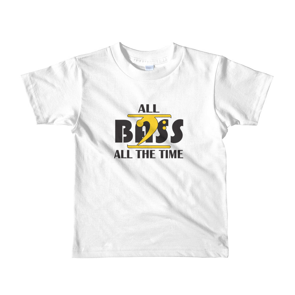 ALL BASS ALL THE TIME Short sleeve kids t-shirt - Lathon Bass Wear