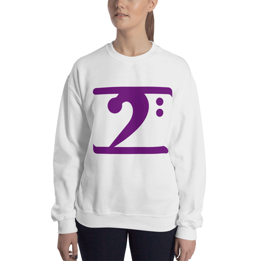 PURPLE LOGO Sweatshirt - Lathon Bass Wear