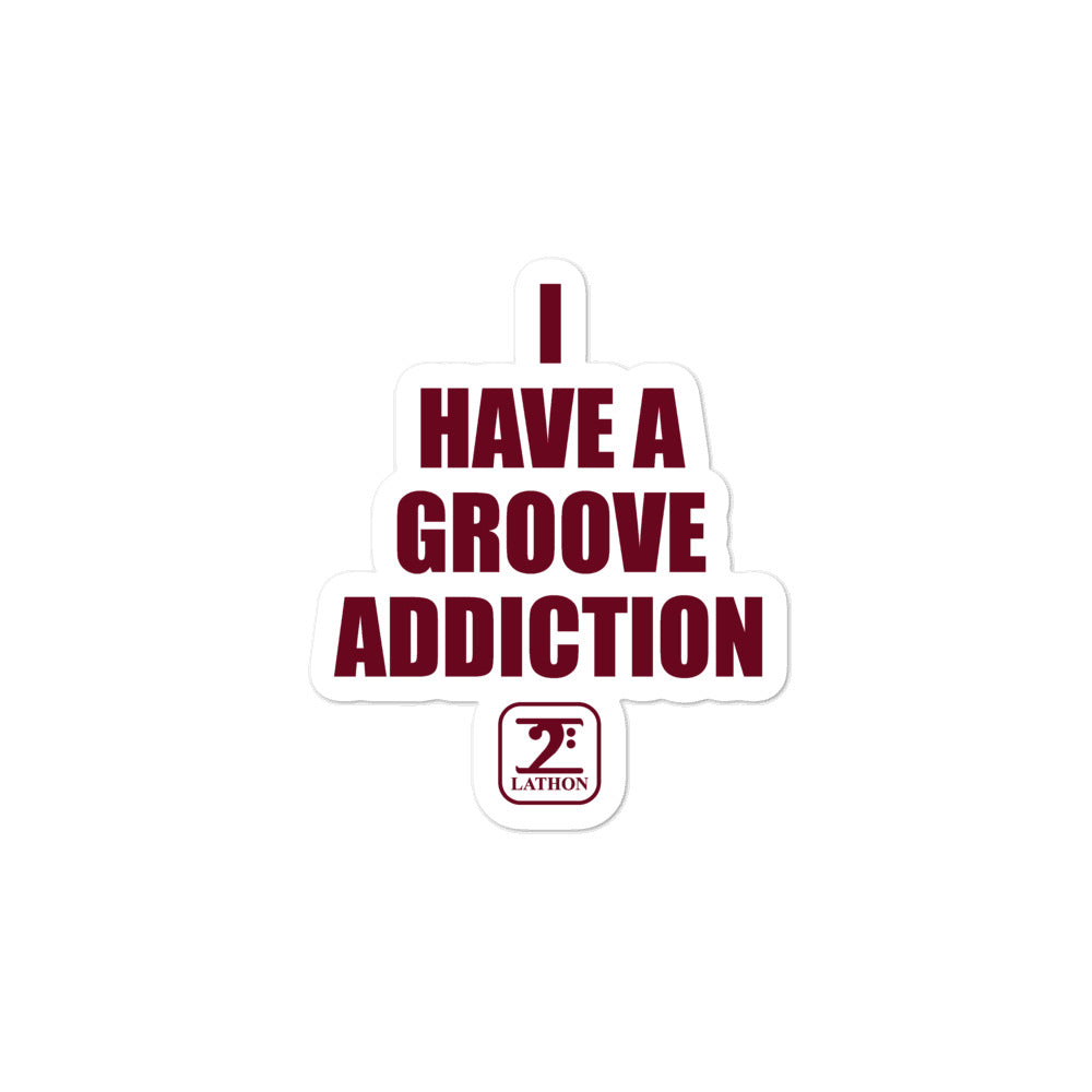 GROOVE ADDICTION Bubble-free stickers