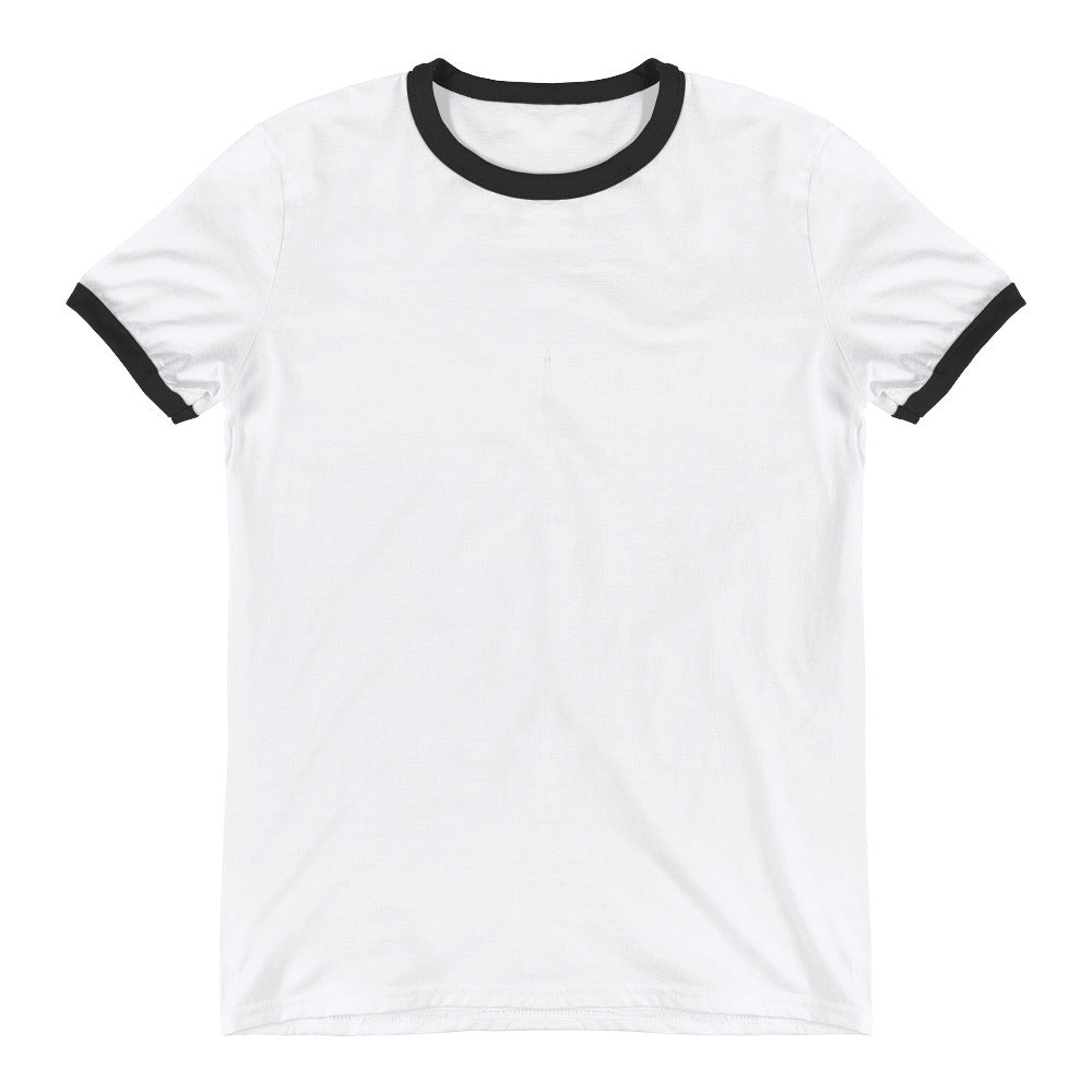 UPRIGHT - WHITE Ringer T-Shirt - Lathon Bass Wear