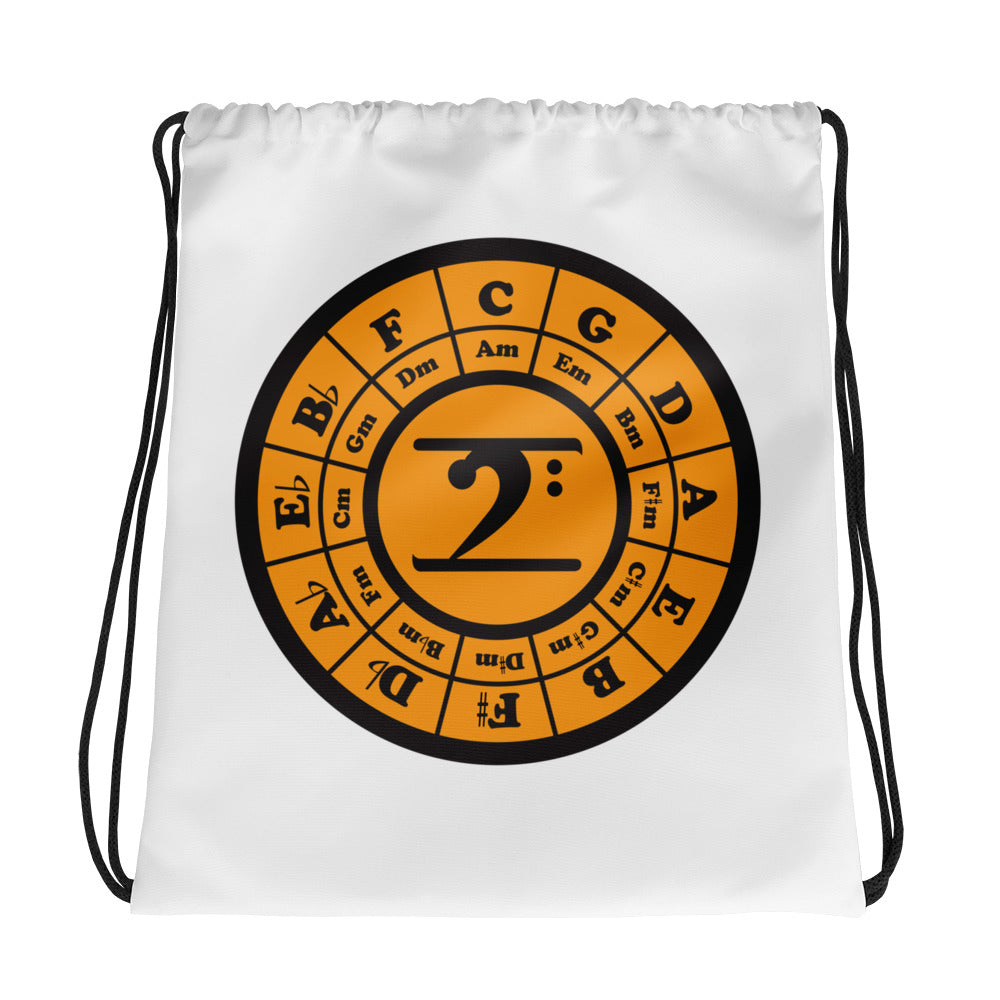 CIRCLE OF 5TH Drawstring bag - Lathon Bass Wear