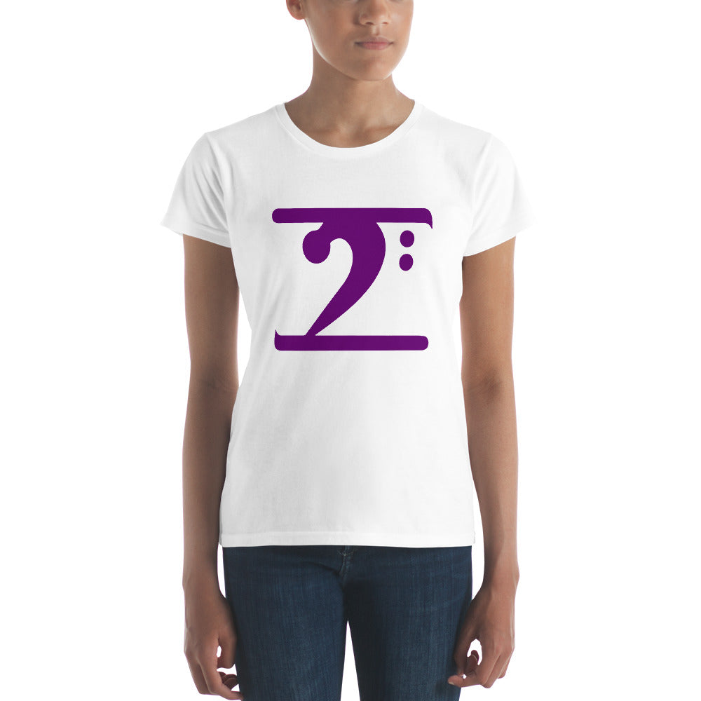 PURPLE LOGO Women's short sleeve t-shirt - Lathon Bass Wear