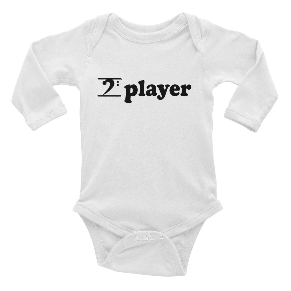 PLAYER Infant Long Sleeve Bodysuit - Lathon Bass Wear