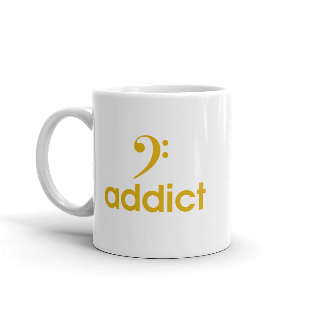 BASS ADDICT - GOLD Mug - Lathon Bass Wear