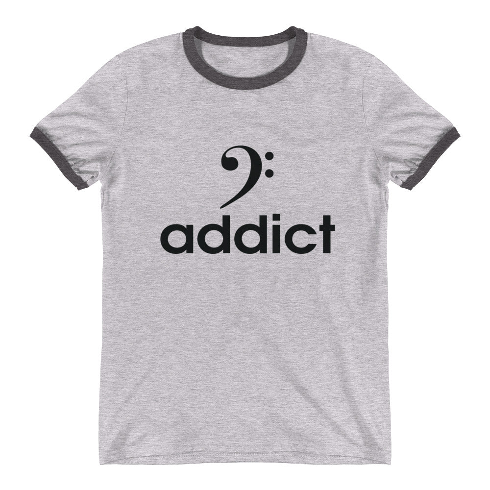 BASS ADDICT Ringer T-Shirt - Lathon Bass Wear