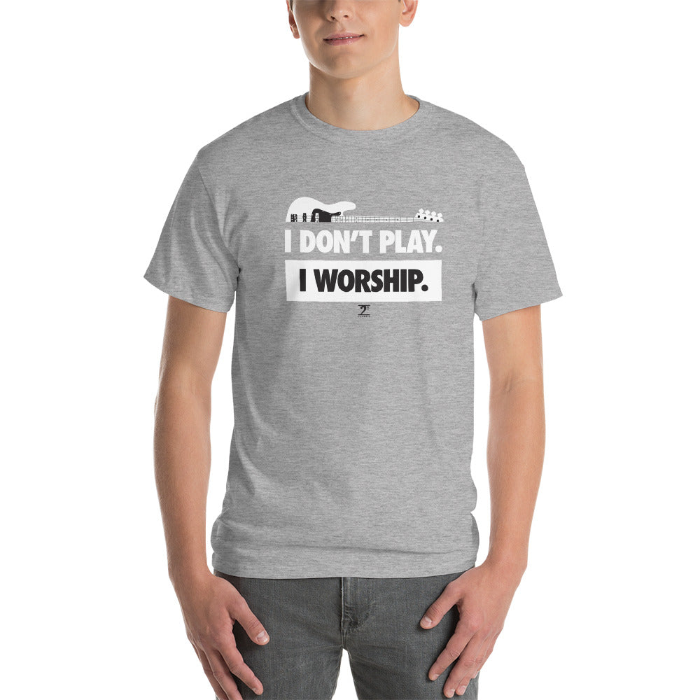 I DON'T PLAY I WORSHIP - IN WHITE- Short-Sleeve T-Shirt - Lathon Bass Wear