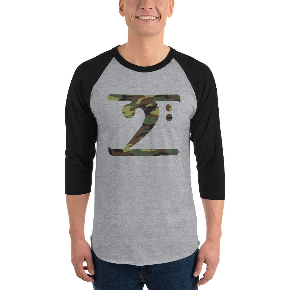 CAMO LOGO 3/4 sleeve raglan shirt - Lathon Bass Wear