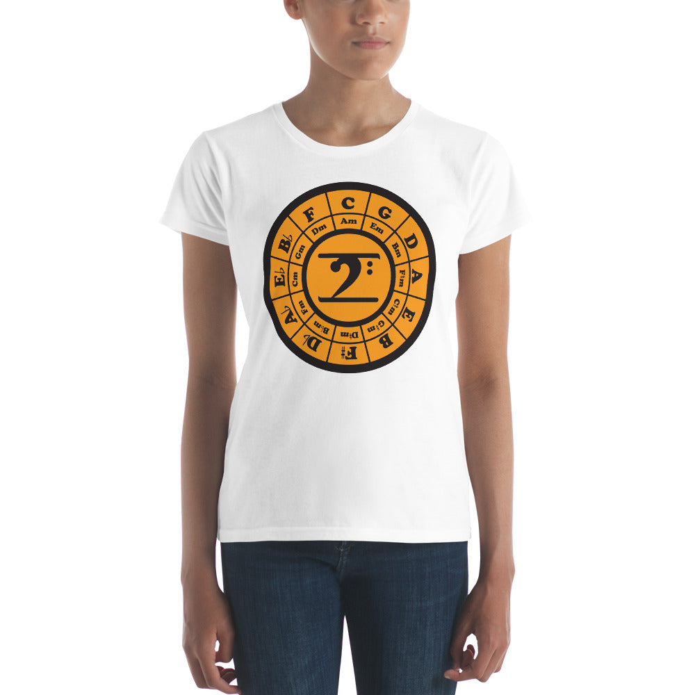 CIRCLE OF 5TH Women's short sleeve t-shirt - Lathon Bass Wear