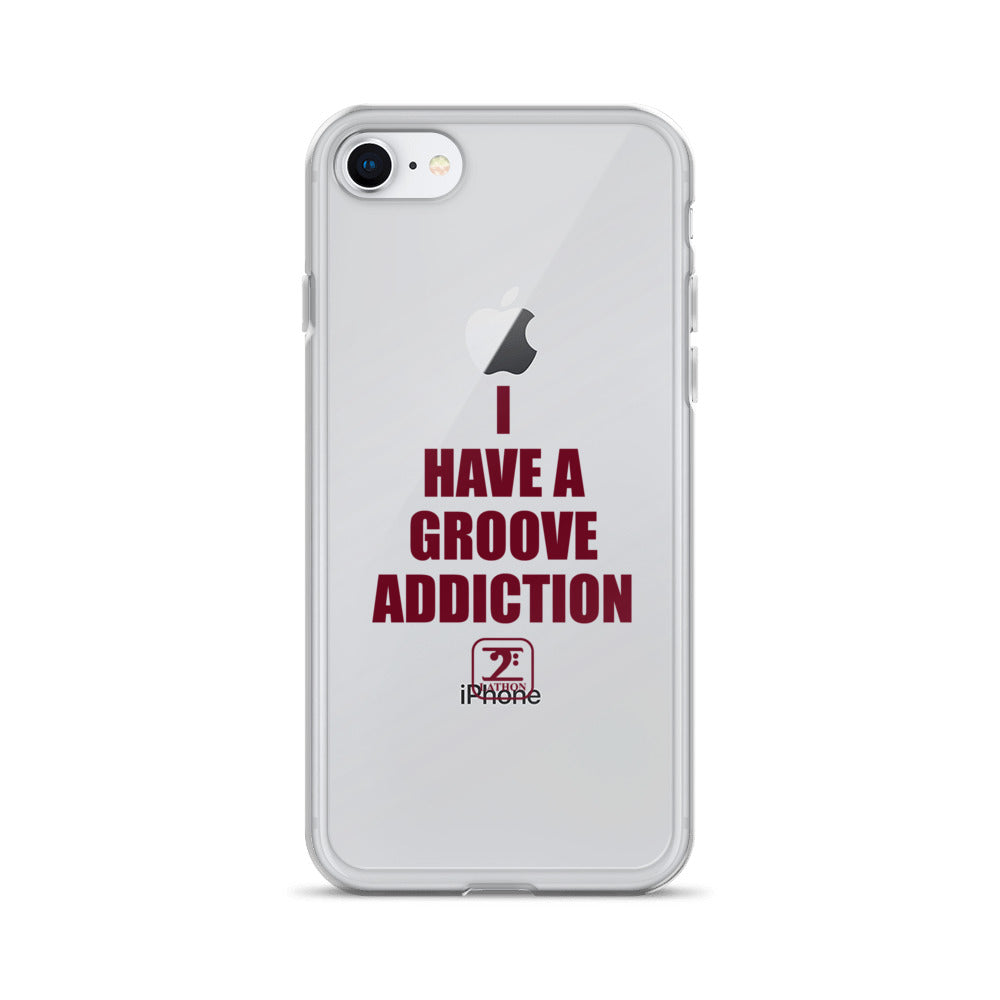 I HAVE GROOVE ADDICTION - MAROON iPhone Case - Lathon Bass Wear