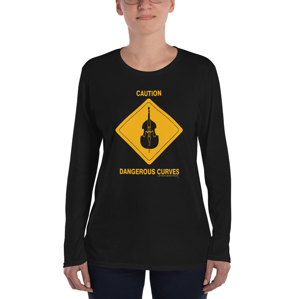 CAUTION Ladies' Long Sleeve T-Shirt - Lathon Bass Wear