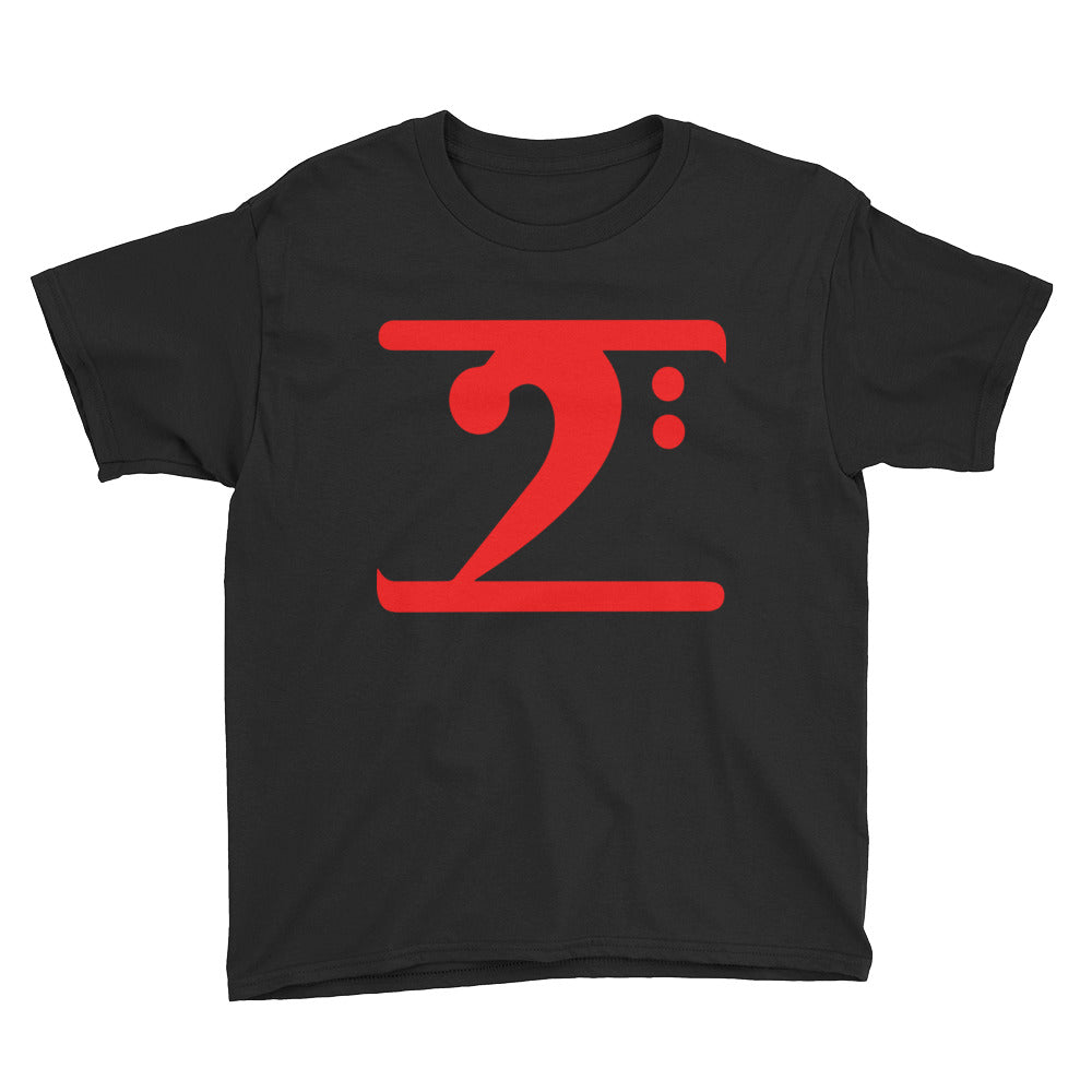 RED LOGO Youth Short Sleeve T-Shirt - Lathon Bass Wear