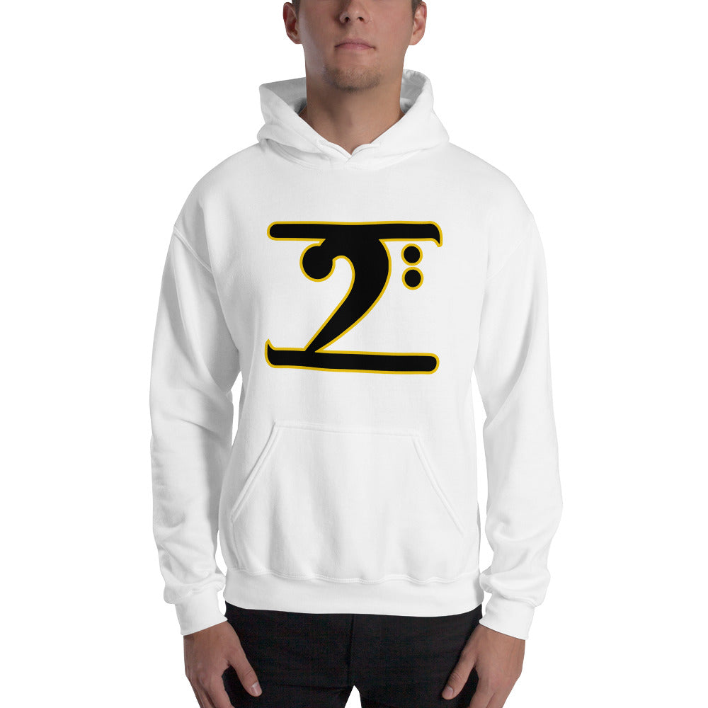 ICONIC LOGO - BLACK/GOLD Hooded