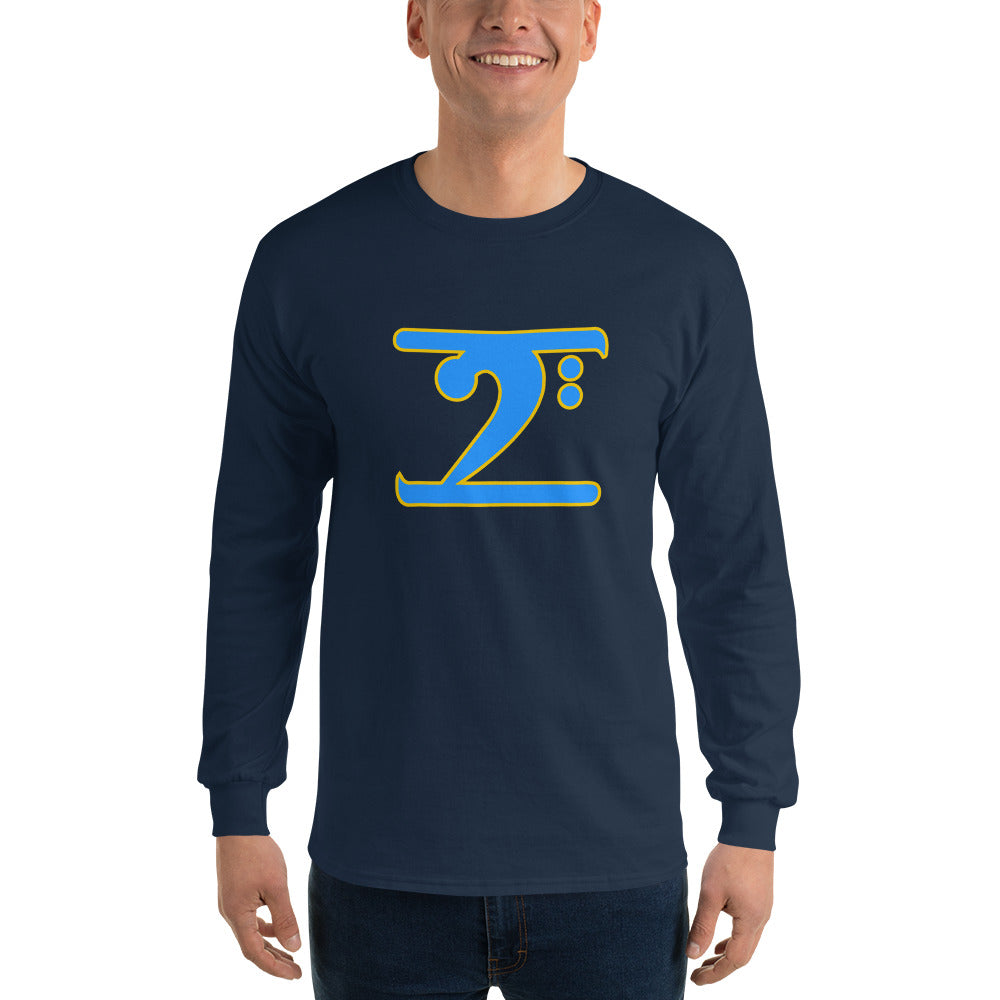 ICONIC LOGO - COL. BLUE/GOLD Long Sleeve T-Shirt - Lathon Bass Wear