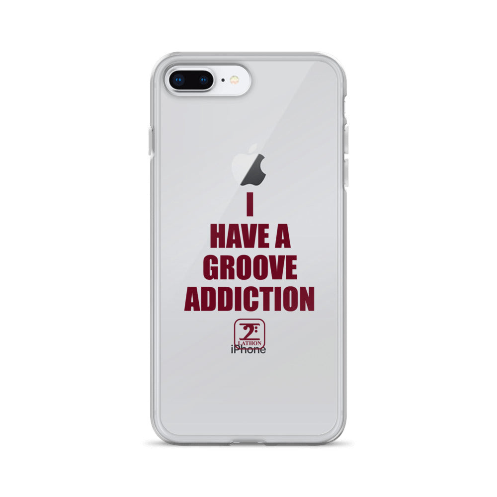 I HAVE A GROOVE ADDICTION - MAROON iPhone Case - Lathon Bass Wear