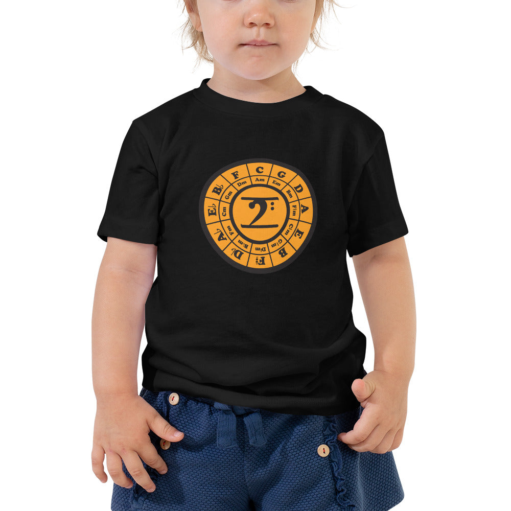 CIRCLE OF 5TH Toddler Short Sleeve Tee - Lathon Bass Wear