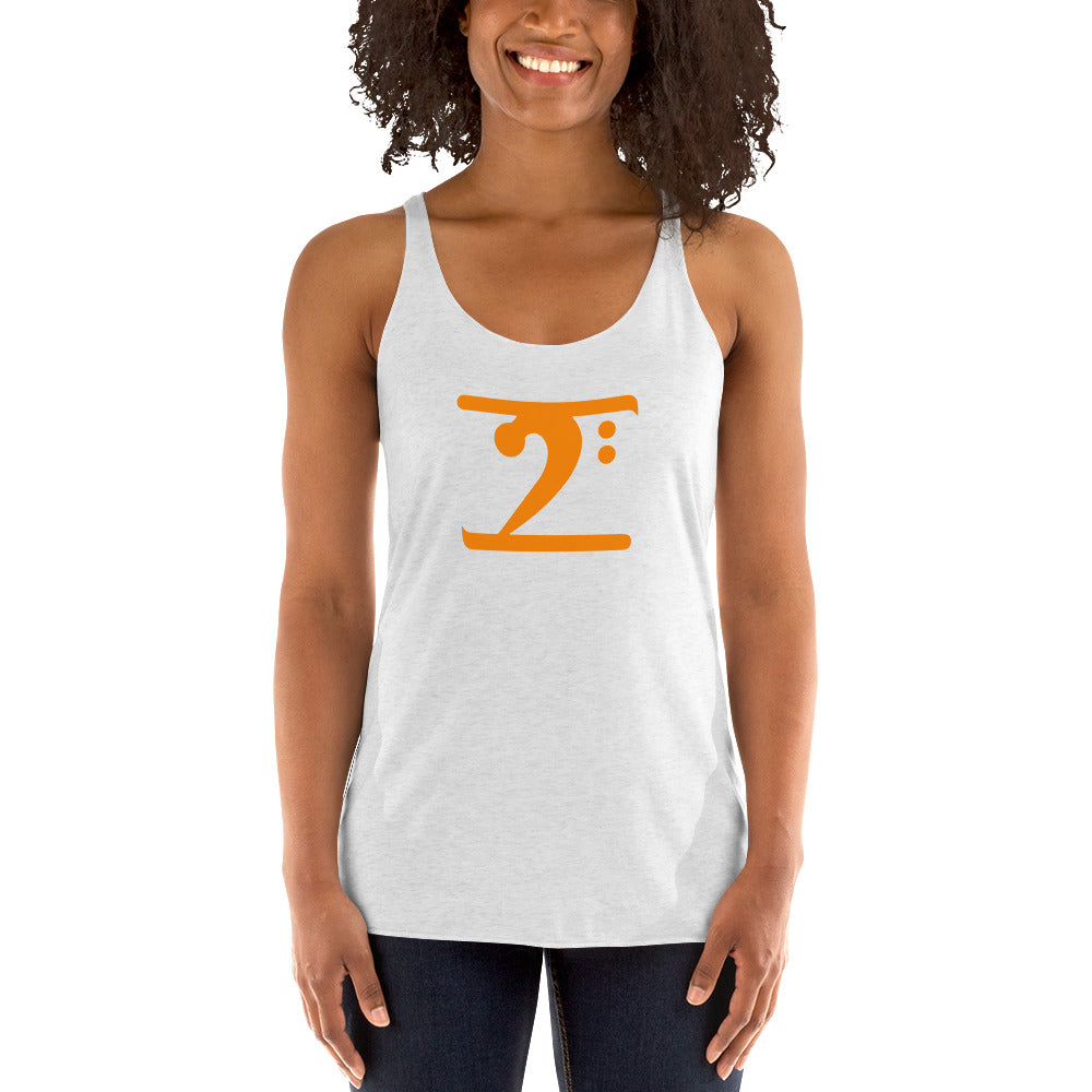 ORANGE LOGO Women's Racerback Tank - Lathon Bass Wear