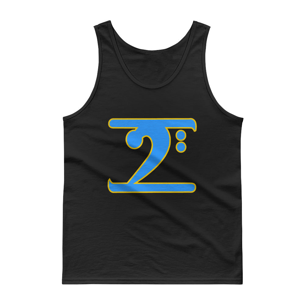 ICONIC LOGO - COL. BLUE/GOLD Tank top - Lathon Bass Wear