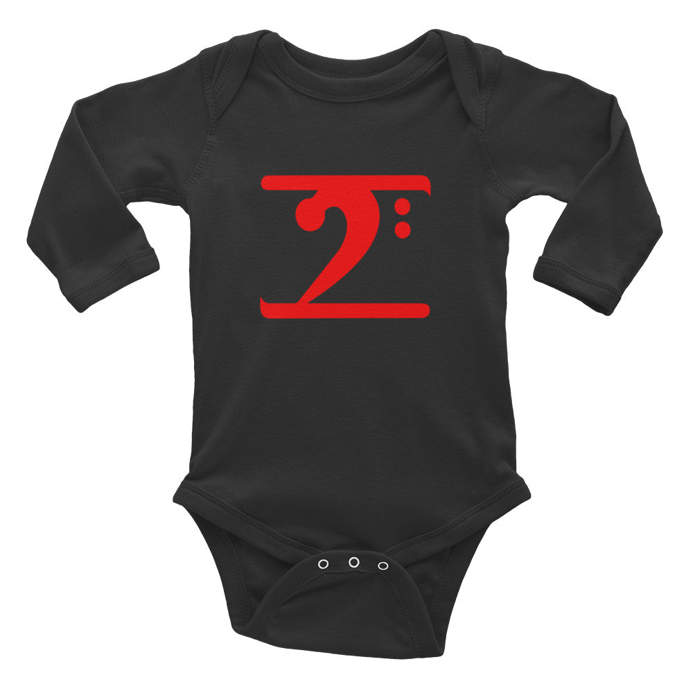 RED LOGO Infant Long Sleeve Bodysuit - Lathon Bass Wear