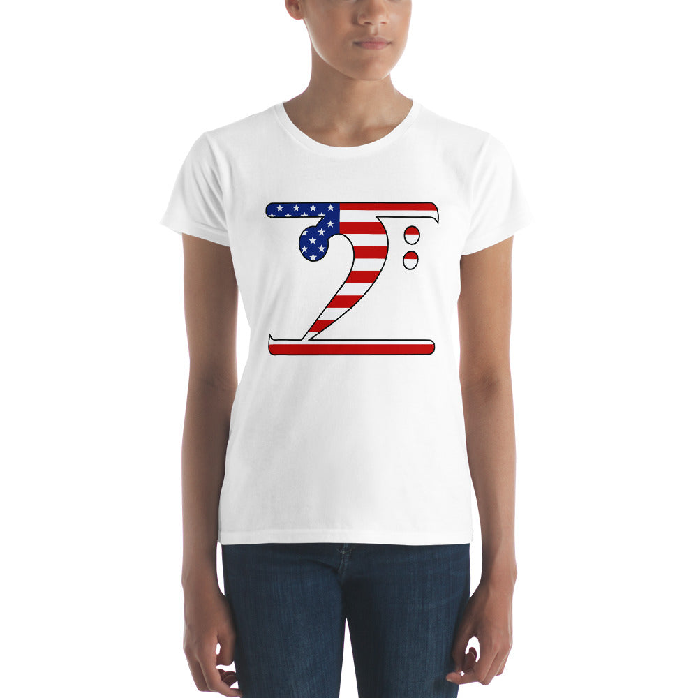 USA LBW Women's short sleeve t-shirt - Lathon Bass Wear