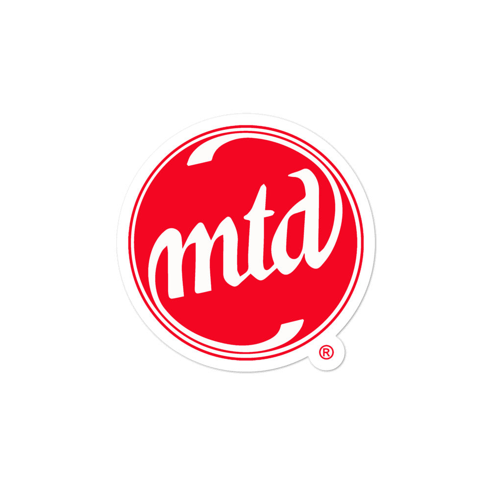 MTD RED & WHITE LOGO Bubble-free stickers