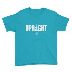 UPRIGHT - WHITE Youth Short Sleeve T-Shirt - Lathon Bass Wear