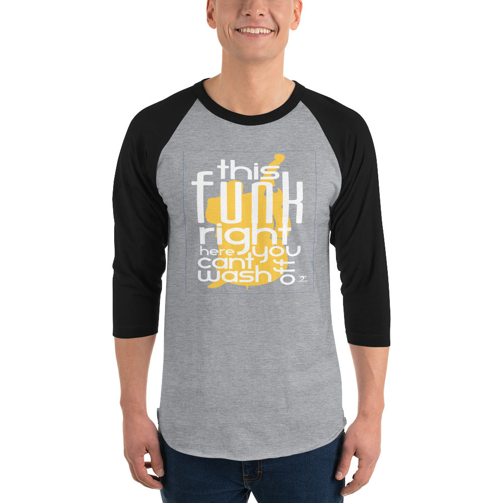 THIS FUNK RIGHT HERE - UPRIGHT 3/4 sleeve raglan shirt - Lathon Bass Wear