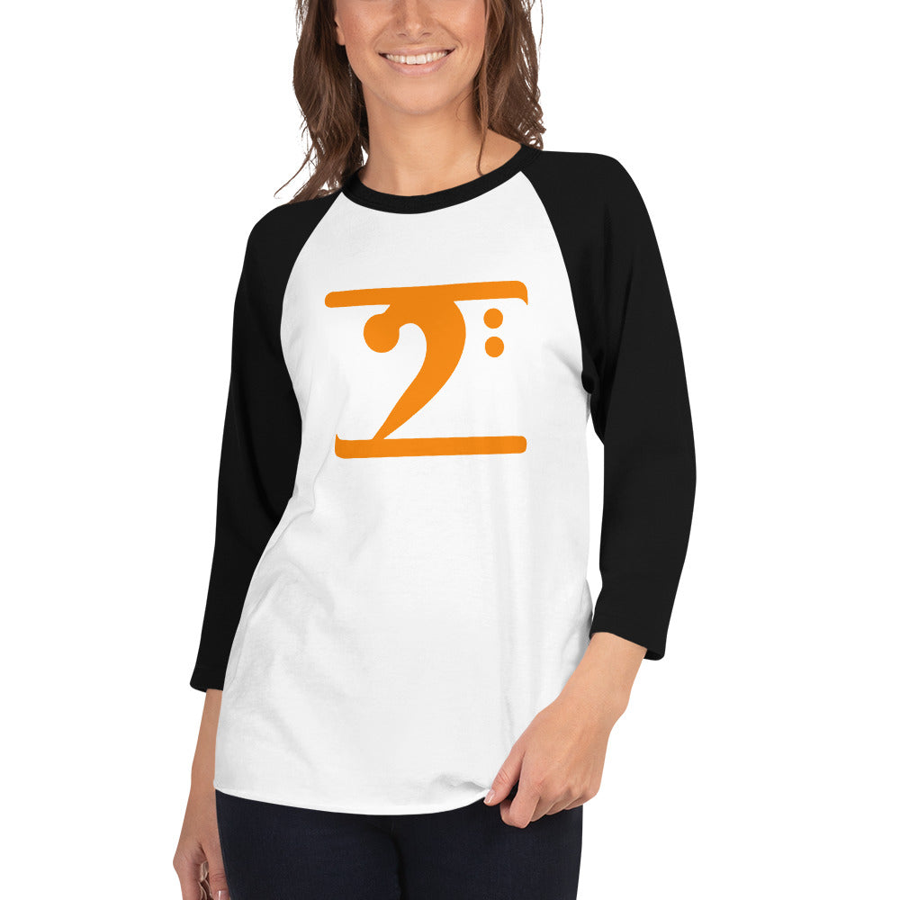 ORANGE LOGO 3/4 sleeve raglan shirt