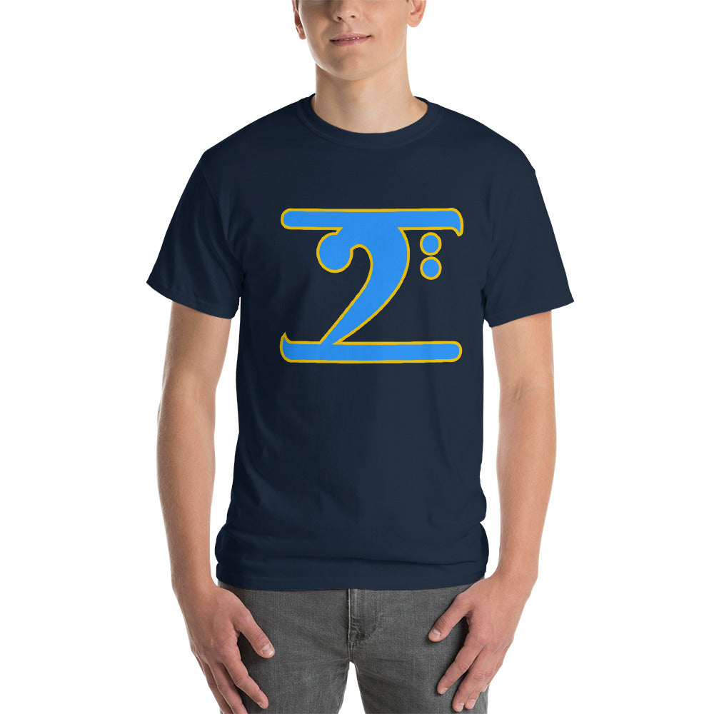ICONIC LOGO - COL. BLUE/GOLD Short-Sleeve T-Shirt - Lathon Bass Wear