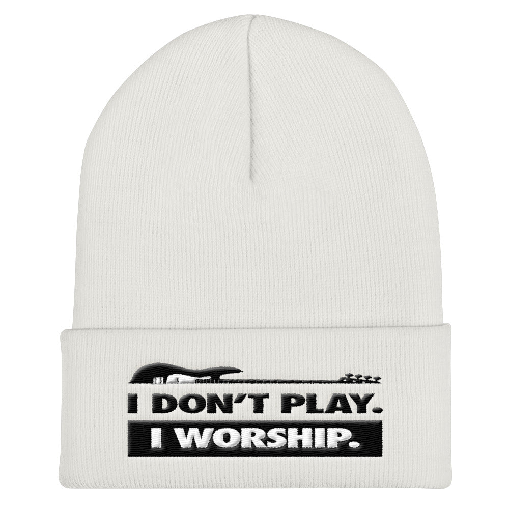 I Don't Play I Worship Cuffed Beanie - Lathon Bass Wear