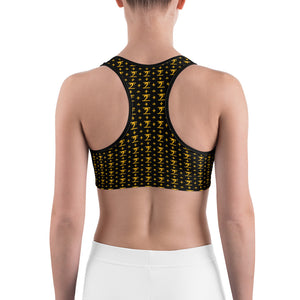 LBW Pattern All-Over Print Sports Bra - Lathon Bass Wear