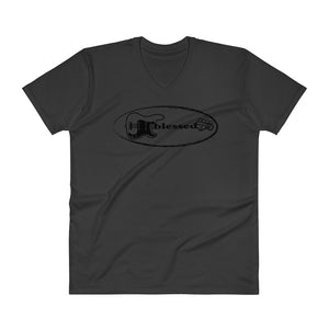 BLESSED V-Neck T-Shirt - Lathon Bass Wear