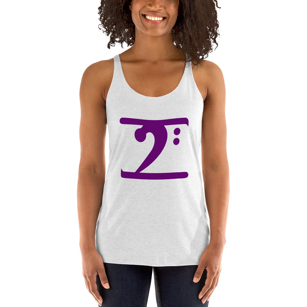 PURPLE LOGO Women's Racerback Tank - Lathon Bass Wear