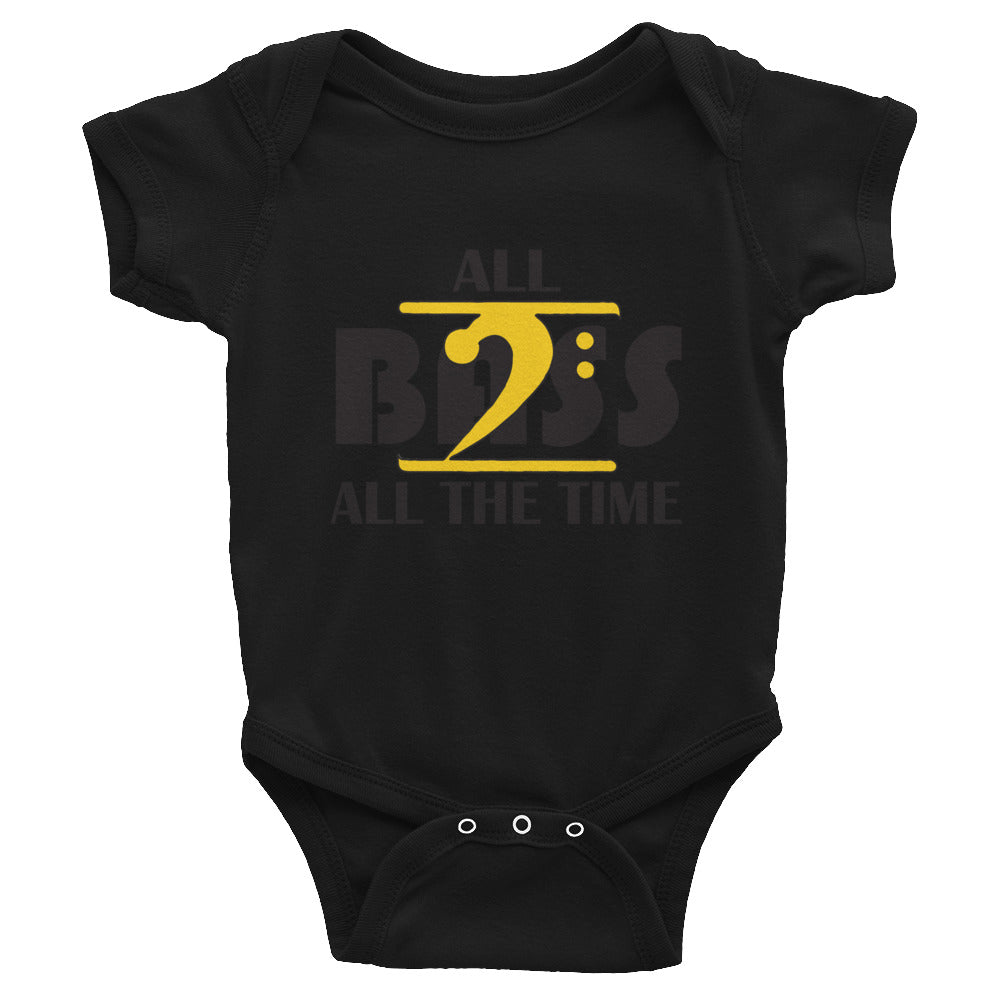 ALL BASS ALL THE TIME Infant Bodysuit - Lathon Bass Wear