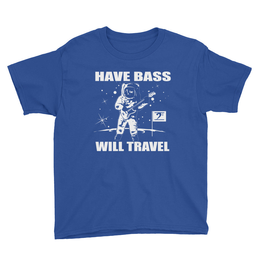 HAVE BASS WILL TRAVEL Youth Short Sleeve T-Shirt - Lathon Bass Wear