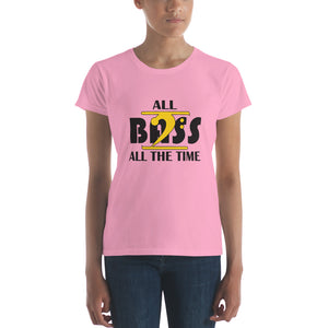 ALL BASS ALL THE TIME Women's short sleeve t-shirt - Lathon Bass Wear
