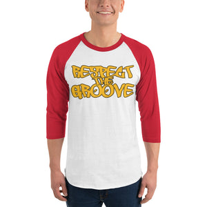 RESPECT THE GROOVE 3/4 sleeve raglan shirt - Lathon Bass Wear