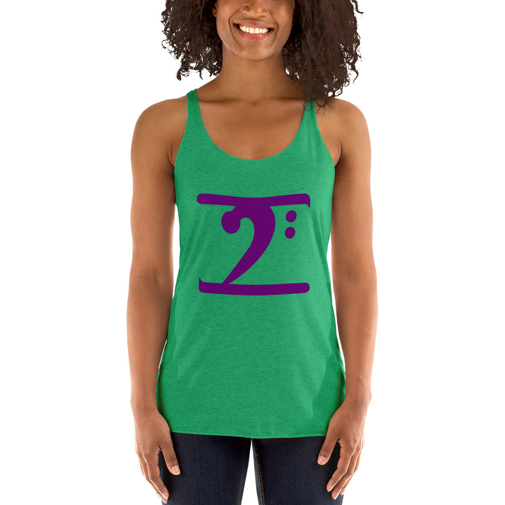 PURPLE LOGO Women's Racerback Tank