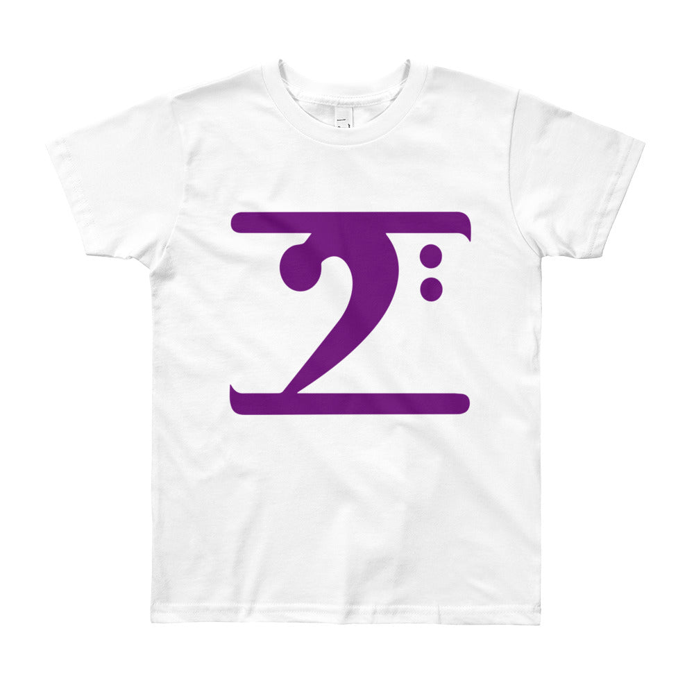 PURPLE LOGO Youth Short Sleeve T-Shirt