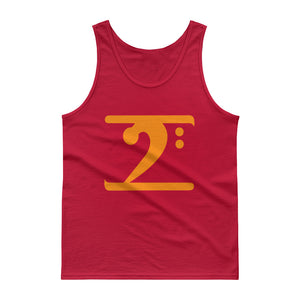 ORANGE LOGO Tank top - Lathon Bass Wear