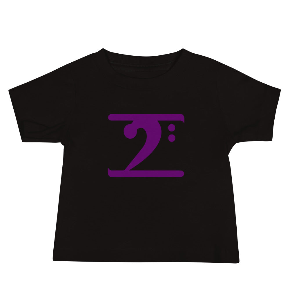 PURPLE LOGO Baby Jersey Short Sleeve Tee - Lathon Bass Wear