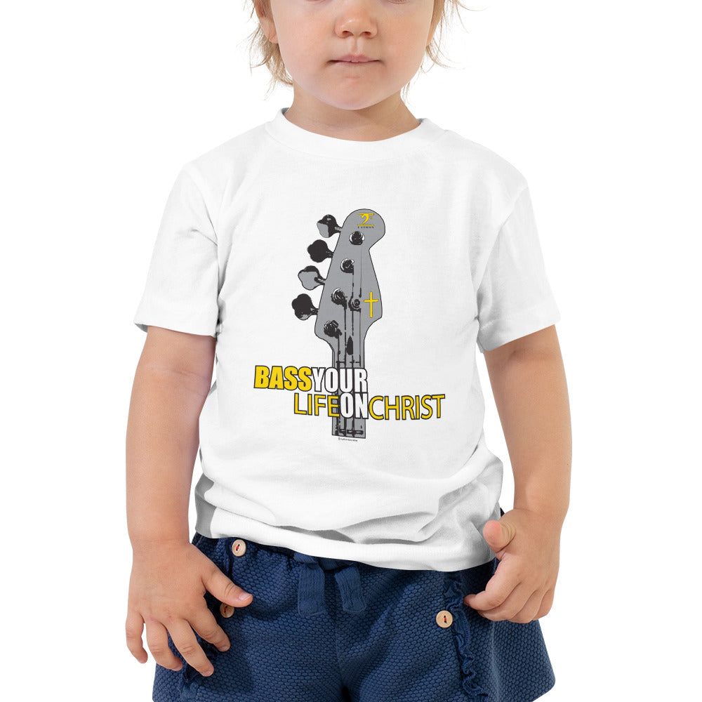 BASS YOUR LIFE ON CHRIST Toddler Short Sleeve Tee - Lathon Bass Wear