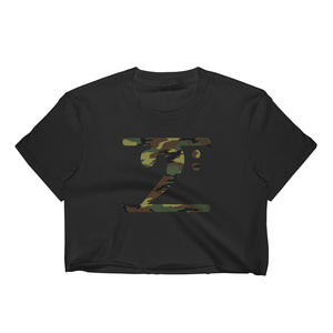 CAMO LOGO Women's Crop Top - Lathon Bass Wear