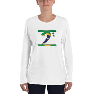 BRAZIL LBW Ladies' Long Sleeve T-Shirt - Lathon Bass Wear