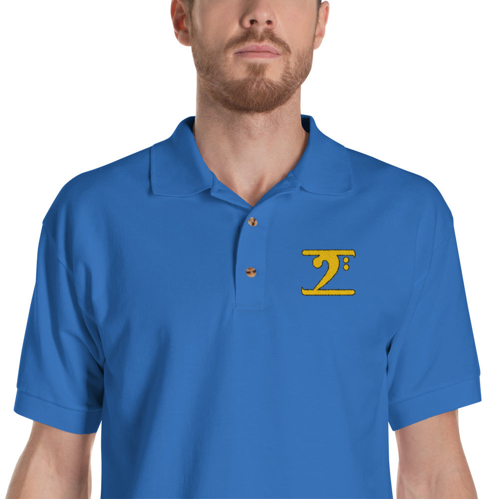 ICONIC LOGO - GOLD/BLACK Embroidered Polo Shirt - Lathon Bass Wear