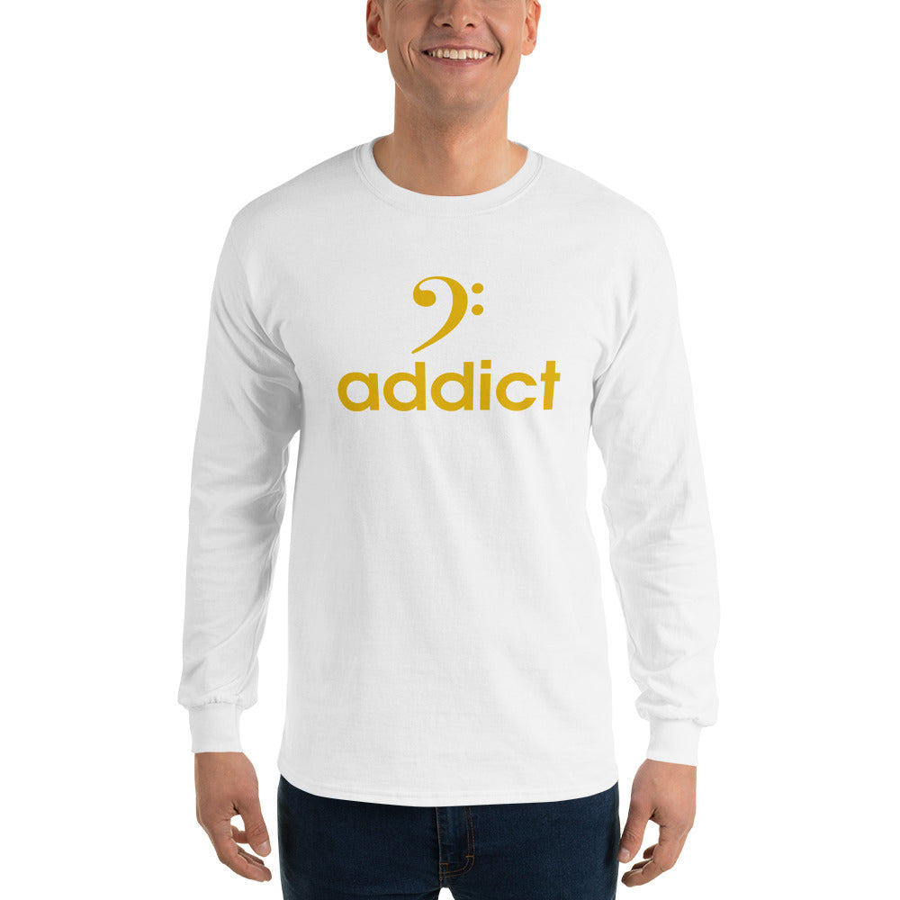 BASS ADDICT - GOLD Long Sleeve T-Shirt - Lathon Bass Wear
