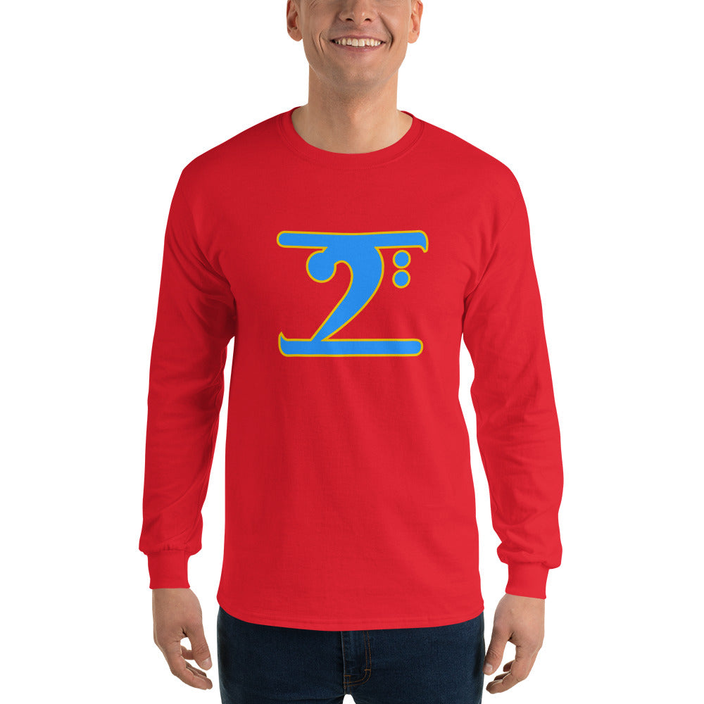 ICONIC LOGO - COL. BLUE/GOLD Long Sleeve T-Shirt