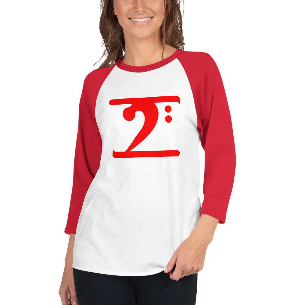 RED LOGO 3/4 sleeve raglan shirt - Lathon Bass Wear